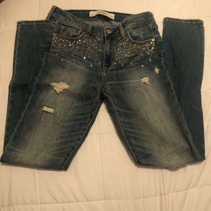 Abercrombie & Fitch Sparkle Skinny Jeans